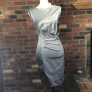 The Limited silver satin cocktail dress